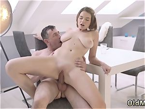 fuck-a-thon and subordination gangbang old clever gentleman with a young jaw-dropping dame
