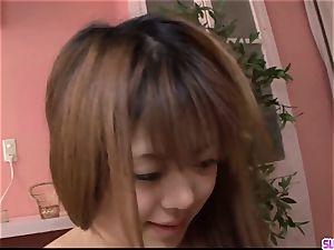 youthfull Noriko Kago enjoys stiff fuckfest with an elder dude