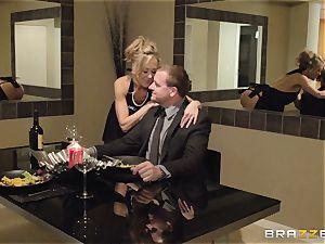 The husband of Brandi enjoy lets her plumb a different man