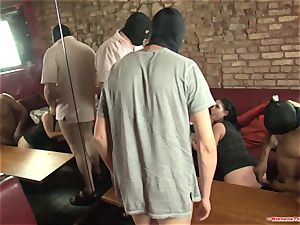 Michelle Thorne and youthful mega-bitch group sex pound with group