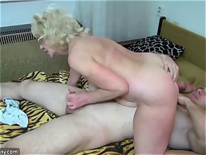 senior grannie got disrobed and pounded hardcore way