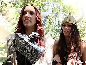 Alison Tyler and Jayden Cole are all girl vikings