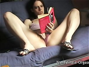 Home Alone Selfie Reading Erotica and stroking
