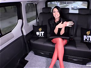 penetrated IN TRAFFIC - mind-blowing Russian honey smashed in the car