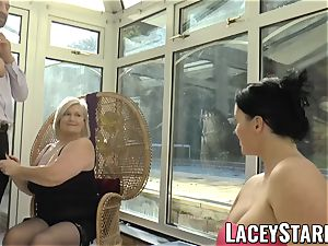 LACEYSTARR - Pascal pounding Lacey Starr and her buddy