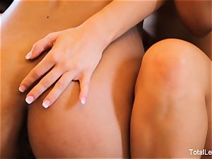 Aaliyah enjoy and Lotus Lain penetrate on the couch