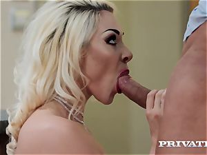 Private.com chesty Victoria Summers plows in tights