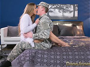 Dane Jones stiff blowing and boning messy Army wifey