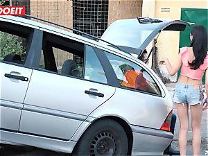 LETSDOEIT - teenage porks old stud For Free Car Repair