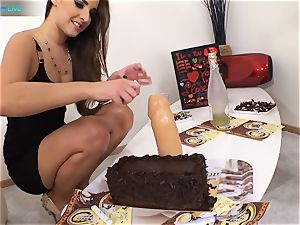 superb sweetie Amirah Adara and tattooed doll Misha Cross plays with their dildos