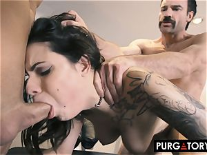 PURGATORY I let my wife plumb 2 fellows in front of me