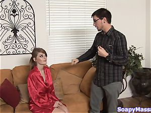 Smoking red-hot red-haired Faye Reagan gives a soapy massage