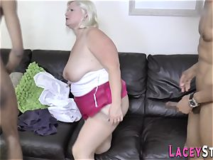 grannie ass fucked in 3way