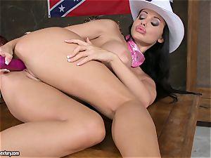 torturing mega-bitch Aletta Ocean playthings her raw cooch