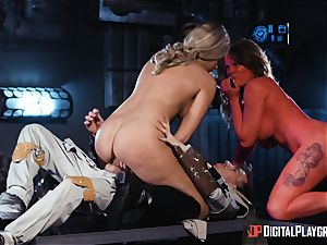 Monster fuck-stick longing space beauties Athena Palomino and Carly Rae