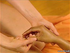 Slow voluptuous massage caress For nymphs