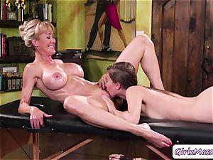masseuse Jill Kassidy massage Brandi enjoy assets and gobbles her raw beaver