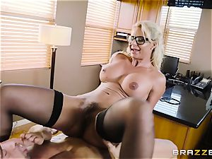Johnny Castle tearing up sumptuous light-haired Phoenix Marie