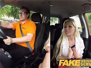 fake Driving college Barbie Sins sloppy bj