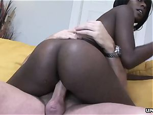 pinkish puss plunged doggy style in a fine bi-racial