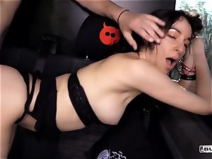 booties BUS - scorching rigid anal in the van with German first-timer