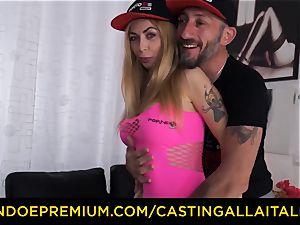 audition ALLA ITALIANA - phat bosoms light-haired nymphomaniac anal double penetration