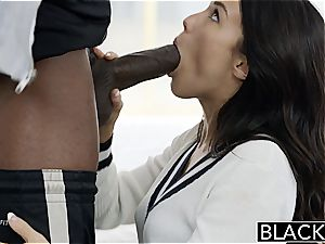 BLACKED Megan Rains very first practice With meaty ebony manmeat Part 1