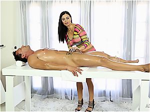 Jasmine Jae humping on the jerking table