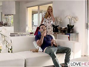 LoveHerFeet Caught masturbating Off By insatiable Stepmom