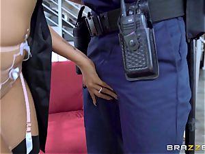 Romi Rain unusual wish getting torn up by the policeman
