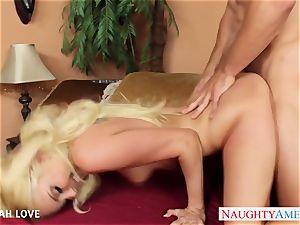 splendid ash-blonde Aaliyah love deepthroat and smash a large spunk-pump