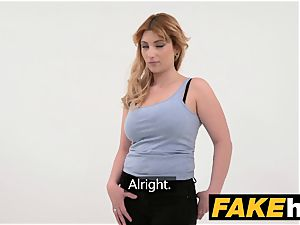 faux Agent Spanish stunner with gigantic tits get great boinking