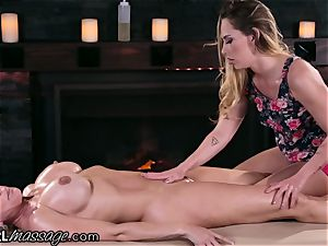 Stepmom Brandi enjoy swaps cooch tongues with daughter-in-law