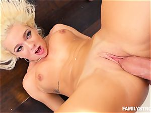 blonde hottie Tiffany Watson smashed stiff