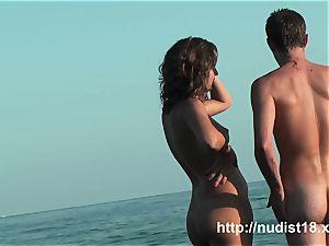 magnificent damsel spy at beach adorable bum naturist shots