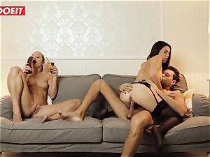 LETSDOEIT - wild wifey Gets nailed gonzo By Swingers