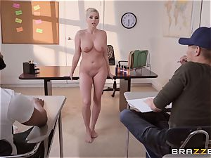 Christie Stevens leaned over and poked doggie-style