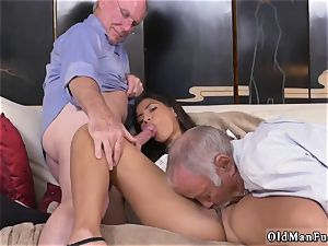 horny senior cougar and dude gets oral job first-ever time Going South Of The Border