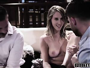 pure TABOO stunner Tricked Into vengeance threeway with Strangers