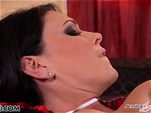 Jessica Jaymes and Nikki poke each other, ginormous udders