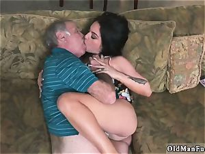 senior dude poke nubile hd and fellows piss on Frannkie s a hasty learner!