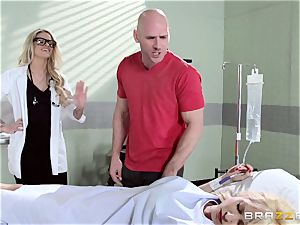 super-fucking-hot doc Jessa Rhodes checks out this hefty hard-on