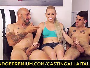 CASTNG ALLA ITALIANA - ash-blonde vixen rough double penetration fuck-a-thon