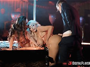 Monster bone for 2 lusty craving honies Abigail Mac and Nicolette Shea