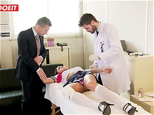 student gets abused hard-core by schoolteacher and doc