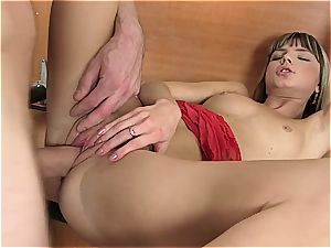 young Gina gets her snatch ripped open