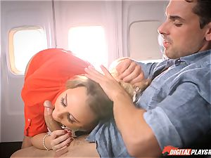 wild stewardess Alexis Adams pummeling with the passengers